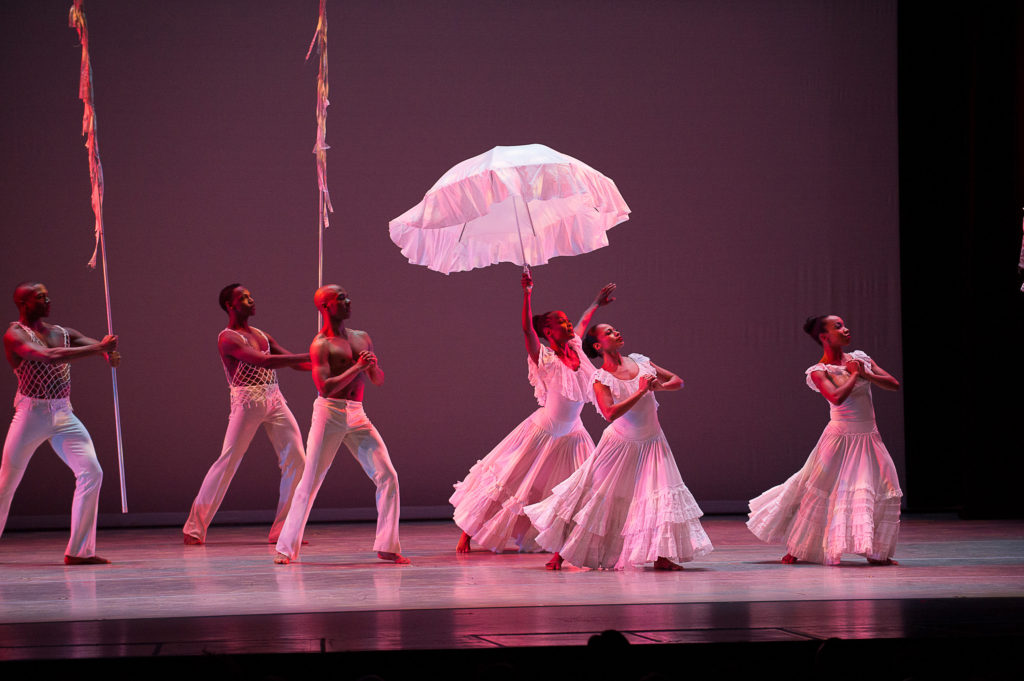 Alvin Ailey American Dance Theater in Alvin Ailey's Revelations Photo by Christopher Duggan