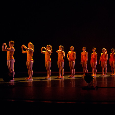 Strictly Seattle advanced track dancers in Pat Graney's ORANGE Photo by Tim Summers