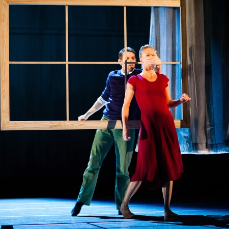 Tory Peil and Thomas Phelan in Penny Saunders' Soir Bleu Photo by Bamberg Fine Art