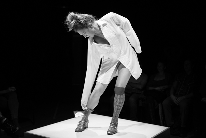 Dayna Hanson in solo study: y(x)  Photo by Kate Hailey