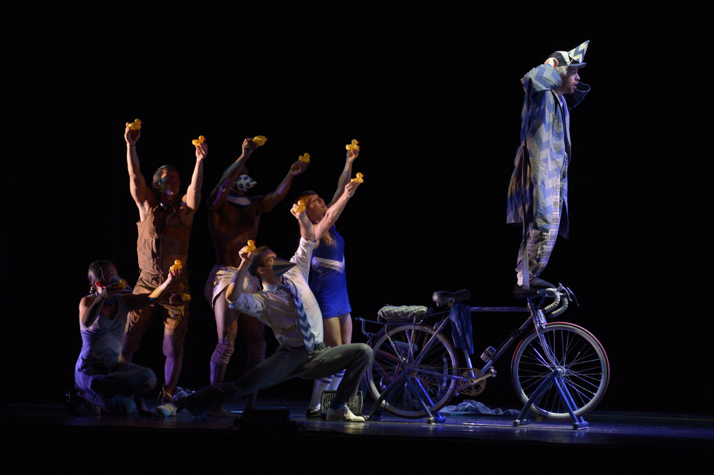 Pilobolus in The Inconsistent Pedaler Photo by Grant Halverson